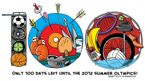 Summer Olympics 2012 Cartoon
