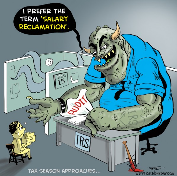 IRS Taxes Cartoon Monster 2012