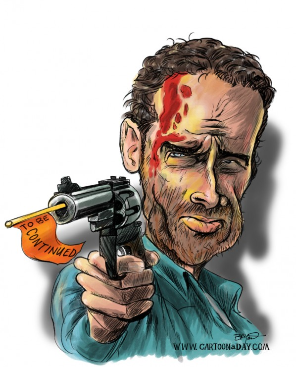 Walking Dead Caricature Zombie Season Over