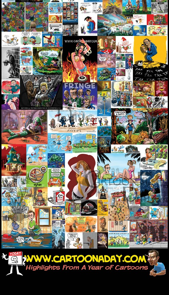 Cartoon A Day A Year in Review Poster