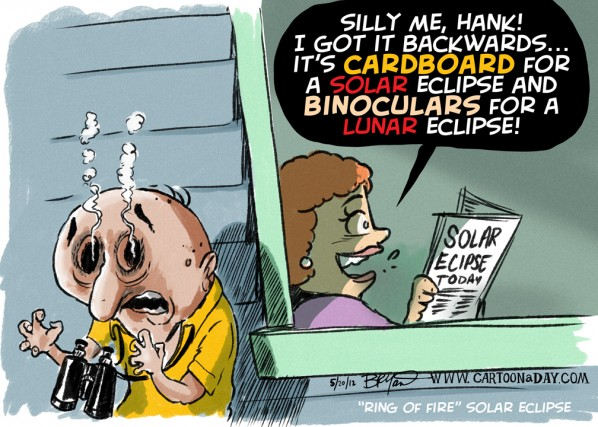 Solar Eclipse Cartoon