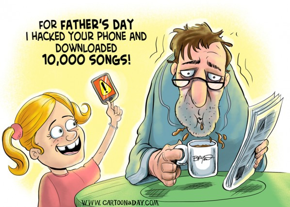 Happy Father's Day Cartoon