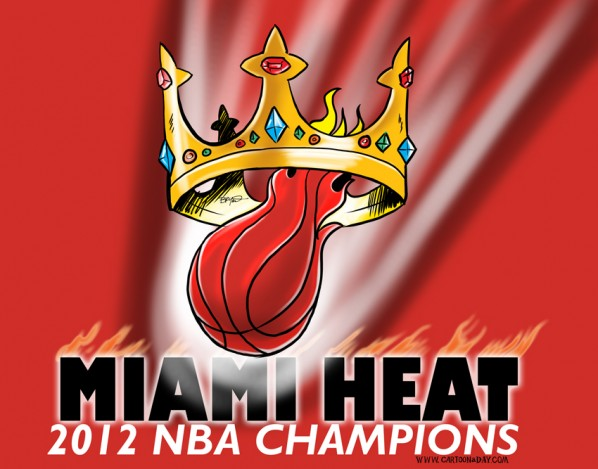 Miami heat win nba championship 2012 cartoon miami heat win nba championship 2012 voltagebd Images