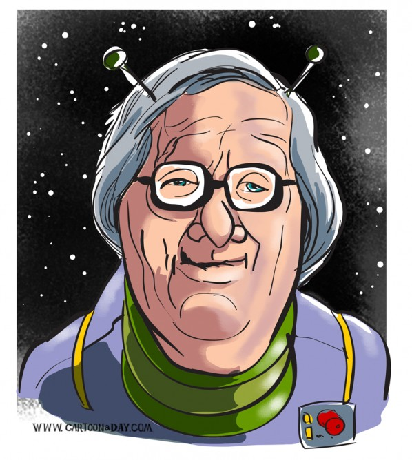 ray-bradbury-caricature-sci-fi-cad