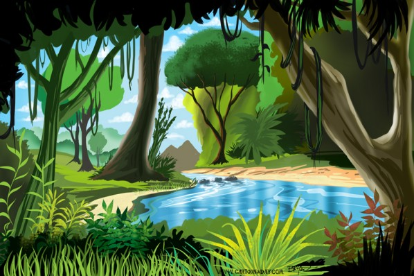 Cartoon Jungle Illustration