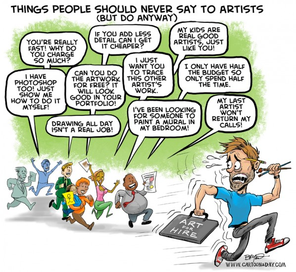 Worst Things to Say to Artists