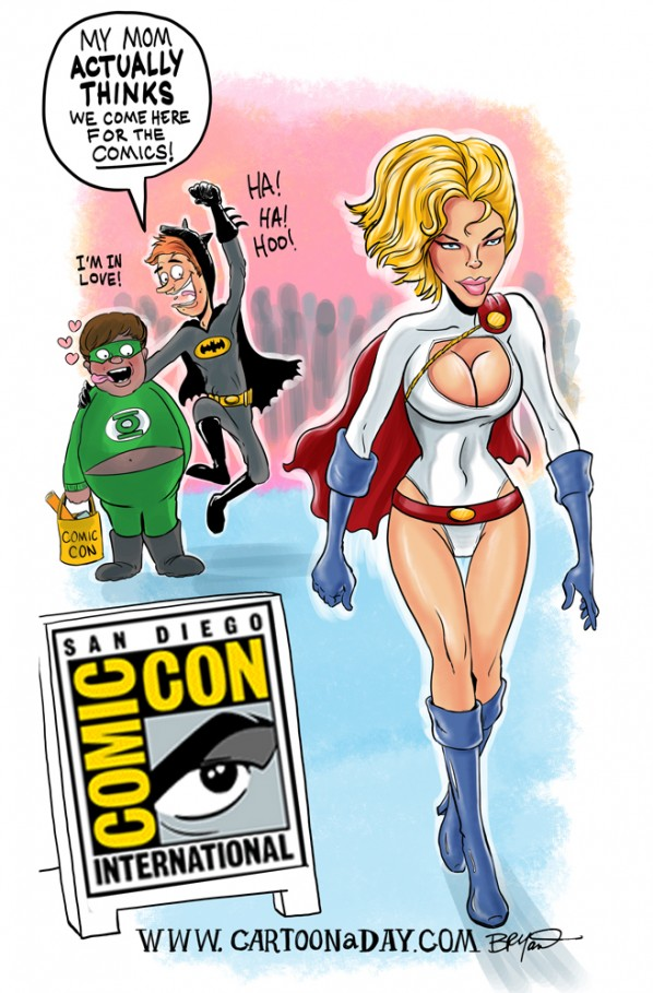San Diego Comic Con Sexy Power Girl