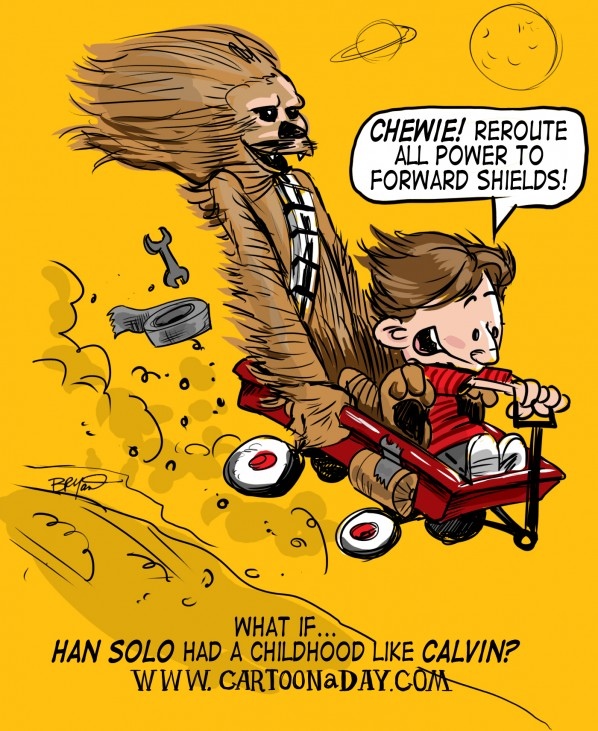 Han Solo Chewbacca Calvin and Hobbes