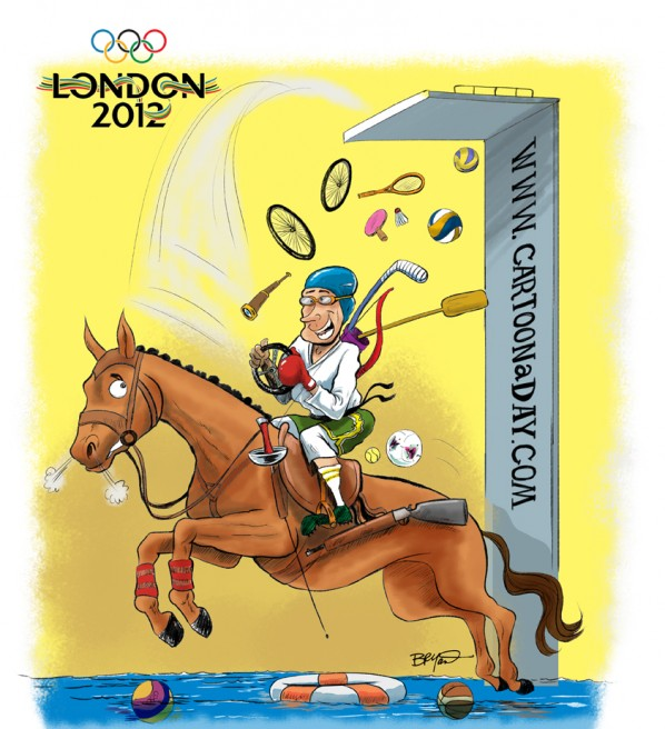 2012 Summer Olympics Cartoon Pentathlon