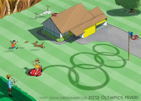 2012 Summer Olympics Logo Cartoon Mown Grass