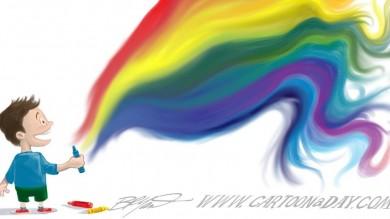 Cartoon Color Wheel Imagination Cartoon