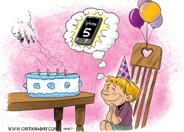 iPhone 5 Cartoon Happy Birthday