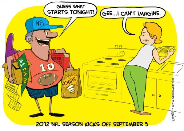 2012 Nfl Football Season Kickoff Cartoon