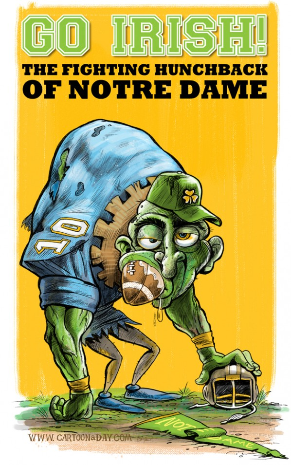 Notre Dame Fighting Irish Cartoon