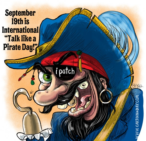 Talk Like a Pirate Day Cartoon