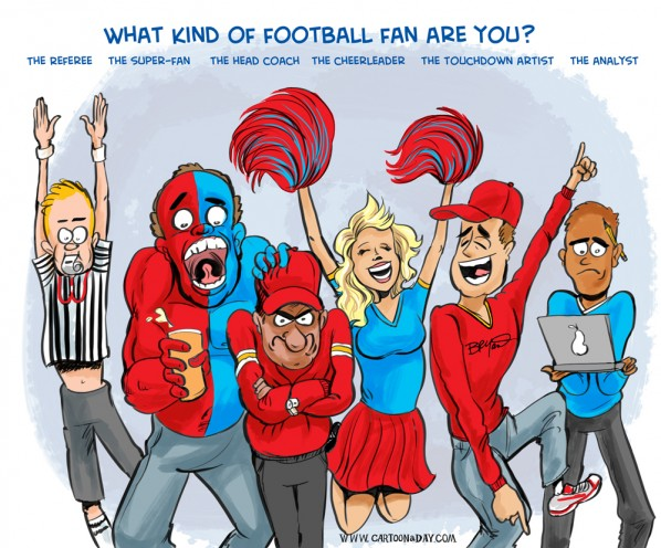 Which Football Fan Are You Cartoon