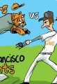 2012 World Series Cartoon Tigers Vs Giants