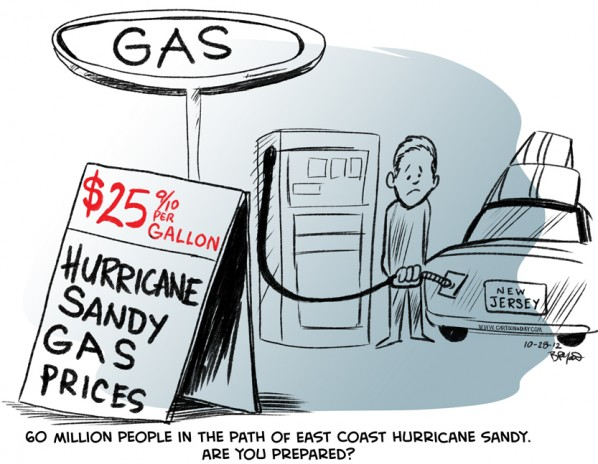 East Coast Hurricane Sandy May Affect 60 Million