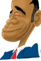 President Obama Single Line Caricature