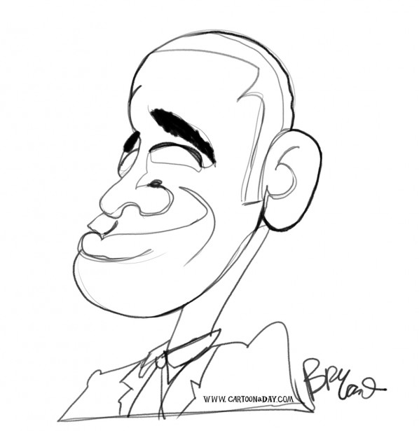 obama-caricature-single-line-obama