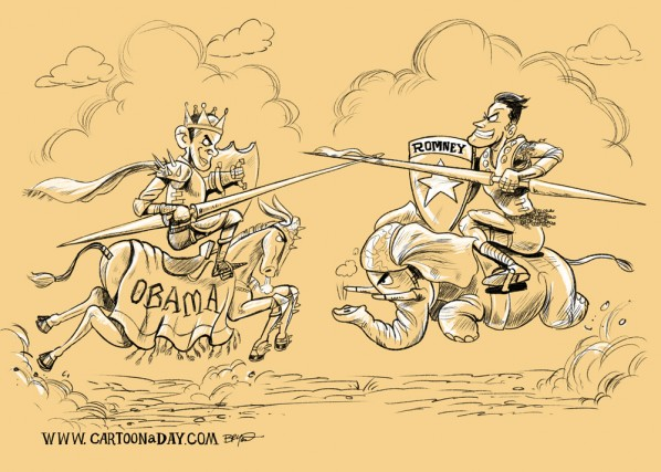 obama-romney-debate-jousting-cartoon