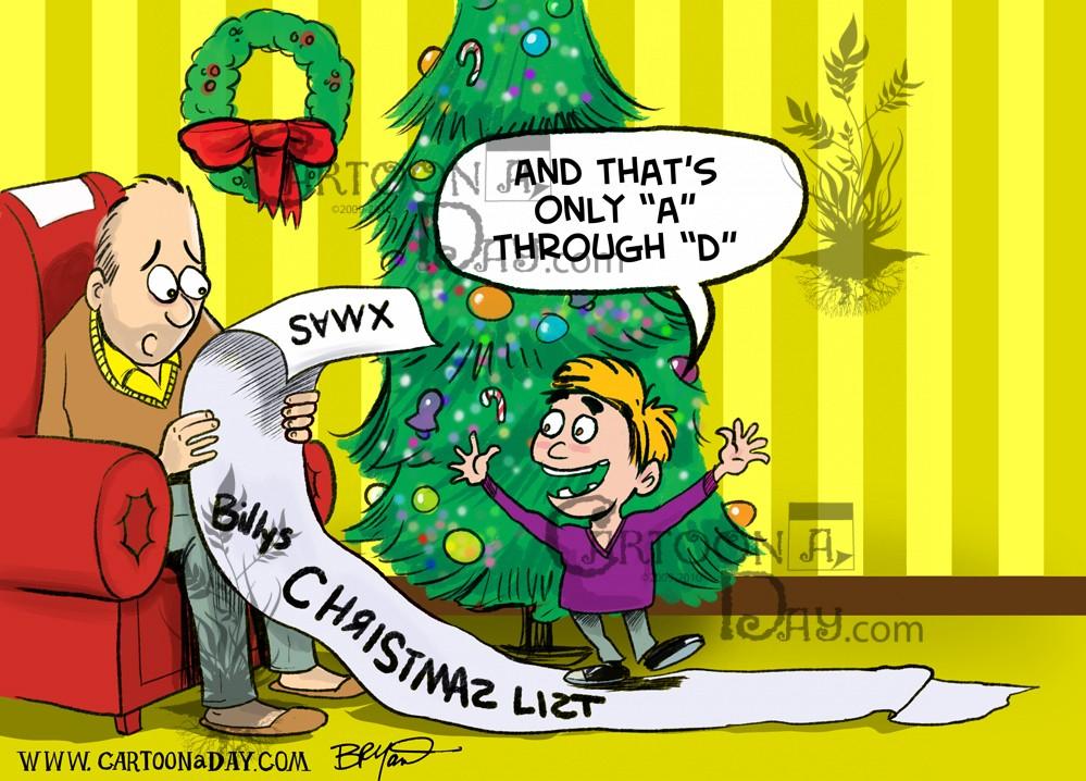Kids Christmas Toy List Cartoon ❤ Cartoon
