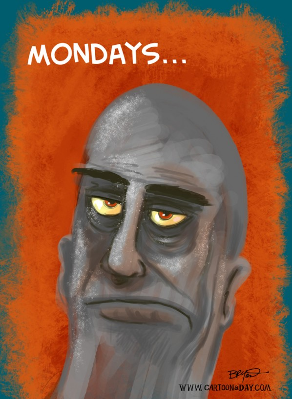 I Hate Mondays Cartoon Man
