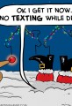 Santa Texting While Driving Cartoon