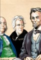 Ben Franklin, Andrew Jackson and Abe Lincoln