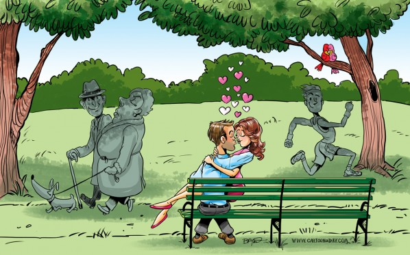love-park-bench-cartoon-desktop