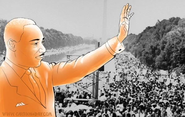 Dr Martin Luther King Day Cartoon Illustration