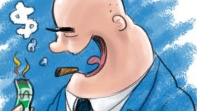 Big Business Tycoon Fat Cat Cartoon