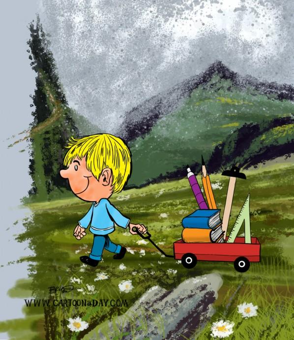schoolboy-scenic-hillside