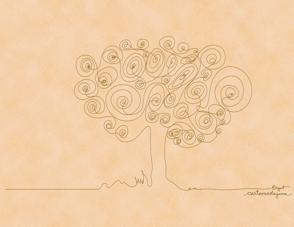 continuous-line-drawing-tree