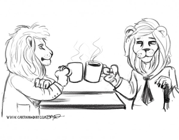 lions-on-break-cartoon-sketch