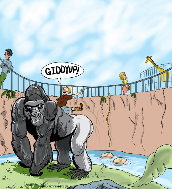 zoo-gorilla-cartoon