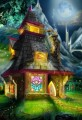 Fantasy illustration-Merlin&#039;s Cabin in Woods