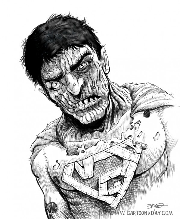 bizzarro-superman-cartoon-lineart