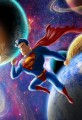 Superman In Space Flying