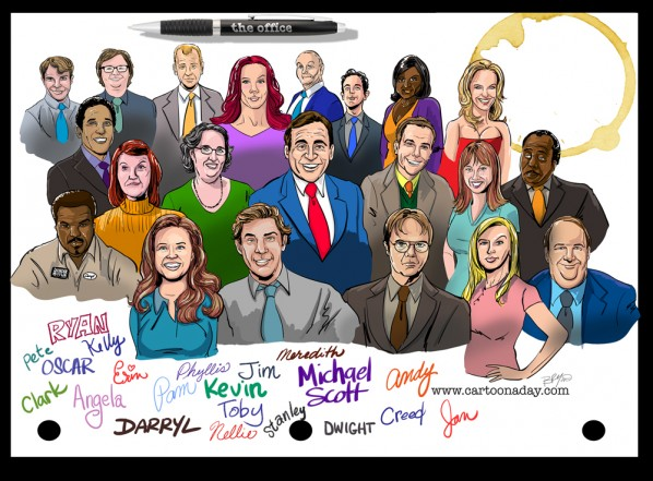 Office-cast-caricature-1