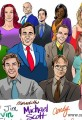 The Office Caricature-Color Cast