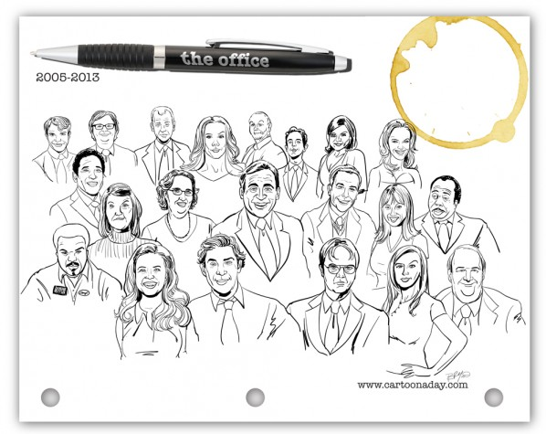 Office-cast-cartoon