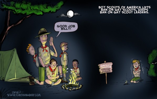 Gay Boy Scouts Cartoon