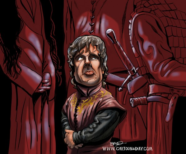 Caricature of Peter Dinklage as Tyrion Lannister