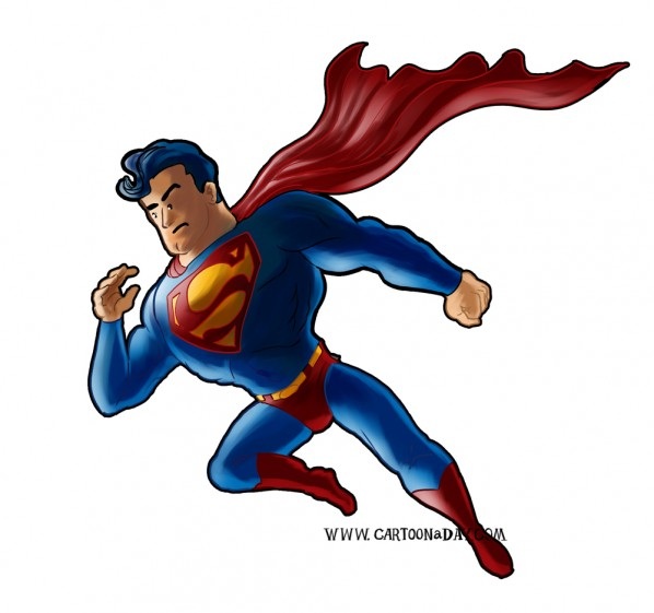 cute superman flying drawing - photo #30