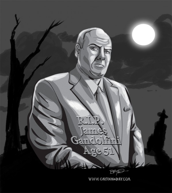 James-Gandolfini-dies-51-cartoon