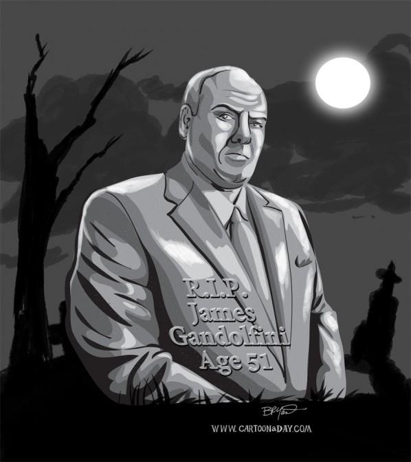 James-Gandolfini-dies-51-cartoon