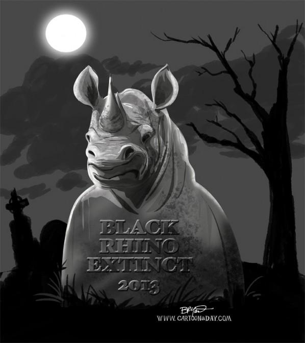 Black Rhinos Now Extinct