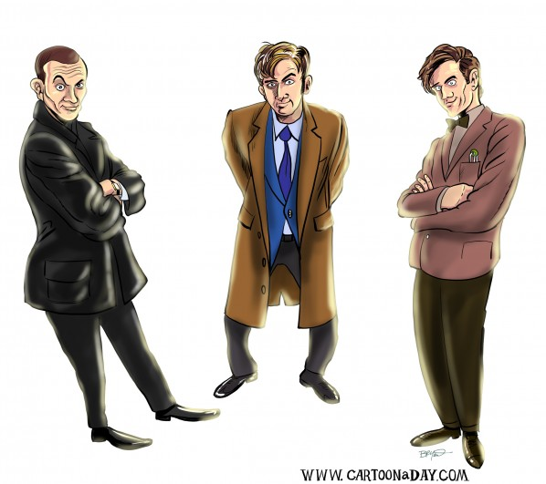 50 Years of Doctor Who Caricature