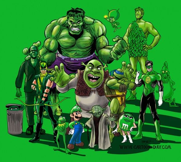 Anime Characters Green : Famous green fictional characters cartoon